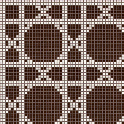 Vienna Marrone mosaic | Mosaïques murales | Bisazza