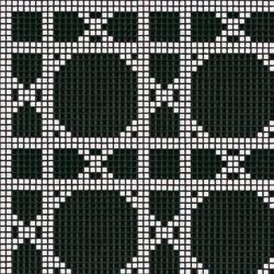Vienna Nero mosaic | Mosaicos de vidrio | Bisazza