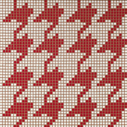 Pied de Poule Rosso mosaic | Glas Mosaike | Bisazza