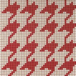 Pied de Poule Rosso mosaic | Mosaicos de vidrio | Bisazza