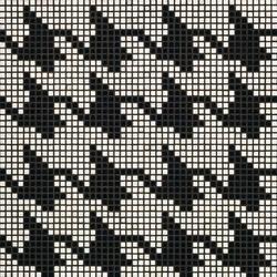 Pied de Poule Nero mosaic | Glass mosaics | Bisazza