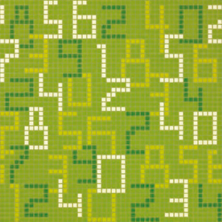 Data Green mosaic | Glass mosaics | Bisazza