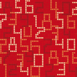 Data Red mosaic | Glass mosaics | Bisazza