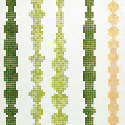 Columns Green A mosaic | Mosaici in vetro | Bisazza