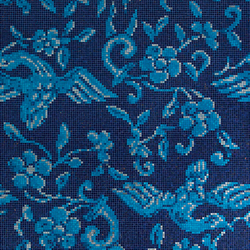 China Birds Blue mosaic | Glass mosaics | Bisazza