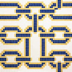Chains Blue mosaic | Mosaici | Bisazza