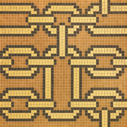 Chains Brown mosaic | Glas Mosaike | Bisazza
