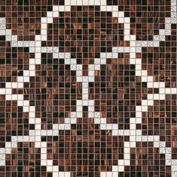 Liaisons Marrone mosaic | Glass mosaics | Bisazza