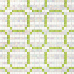 Rings Green mosaic | Glass mosaics | Bisazza