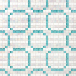 Rings Blue mosaic | Glass mosaics | Bisazza