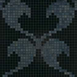 Hearts New Black mosaic | Mosaicos | Bisazza