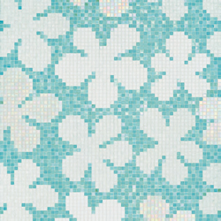 Glass Flowers Blue mosaic | Glass mosaics | Bisazza