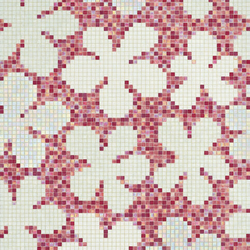 Glass Flowers New Pink mosaic | Glass mosaics | Bisazza