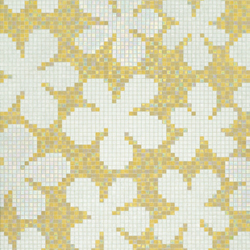 Glass Flowers Amber mosaic | Mosaïques en verre | Bisazza