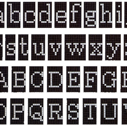 Alfabeto Negativo mosaic | Mosaici in vetro | Bisazza
