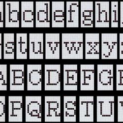 Alfabeto Positivo mosaic | Mosaïques | Bisazza