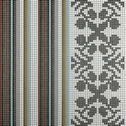 Wallpaper Grey mosaic | Mosaici vetro | Bisazza
