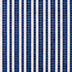 Righe Bianco Blu mosaic | Mosaici in vetro | Bisazza