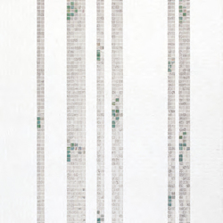 Bamboo White A mosaic | Mosaïques verre | Bisazza