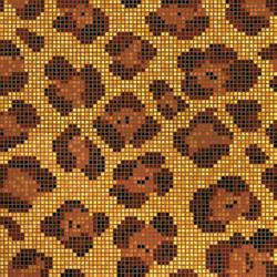 Leopard mosaic | Glass mosaics | Bisazza
