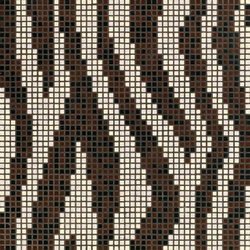 Zebra mosaic | Glass mosaics | Bisazza