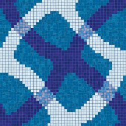 Mirage Blu mosaic | Glass mosaics | Bisazza