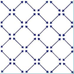Freccette Blu 20x20 | Piastrelle per pareti | Giovanni De Maio