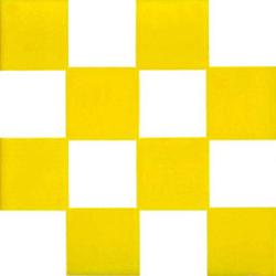 Scacchiera Giallo 20x20 | Wall tiles | Giovanni De Maio