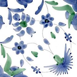 Garofani Azzurro 20x20 | Carrelage mural | Giovanni De Maio