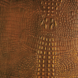 Tactile Amber cayman | Azulejos de pared de cuero natural | Nextep Leathers