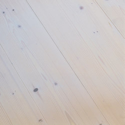 FIR wide-plank brushed | lye treatment | white oil | Planchers bois | mafi