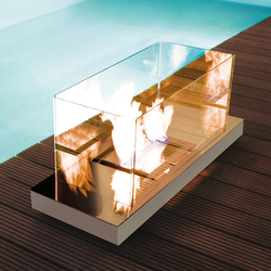 uni flame - de haute brillance/outdoor | Ventless ethanol fires | Radius Design