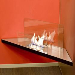 corner flame - de haute brillance | Cheminées sans fumée au bioéthanol | Radius Design
