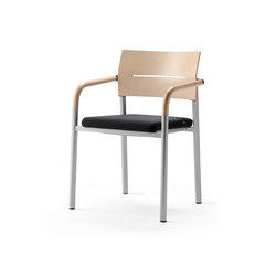 aluform_3 stacking chair with beech arms | Visitors chairs / Side chairs | Wiesner-Hager