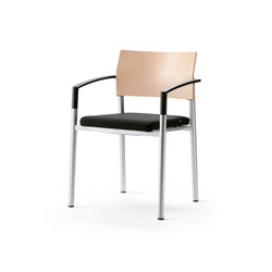 aluform_3 stacking chair with plastic ar | Visitors chairs / Side chairs | Wiesner-Hager