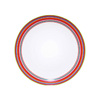 Origo plate 26cm red | Services de table | iittala
