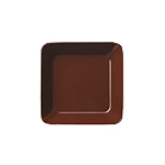 Teema plate 16x16cm brown | Services de table | iittala