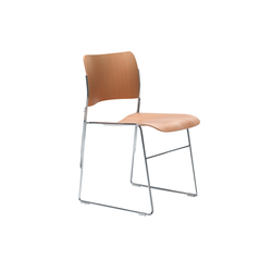 40/4 chair with integrated linking | Visitors chairs / Side chairs | HOWE