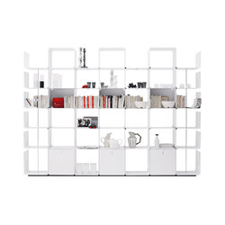 cWave | Bookcases with 3 drawers H 2223 mm | Shelving | Dieffebi