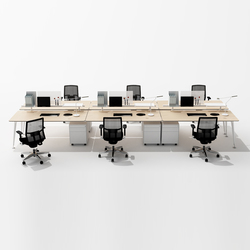 U too Six Fold Desk | Tischsysteme | Nurus
