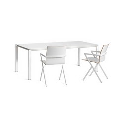 Slender White Color Core | Mesas comedor | Lourens Fisher