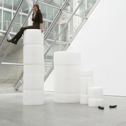 softseating | white textile softseating | Garden stools | molo
