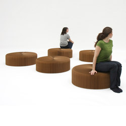 softseating | natural brown paper softseating | Poufs | molo