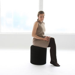 softseating | black paper softseating | Poufs | molo