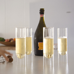 float glassware | champagne flutes | Champagne glasses | molo