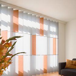 Banners orange | Vertical blinds | Wood & Washi