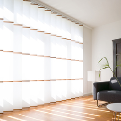 Banners white | Vertical blinds | Wood & Washi