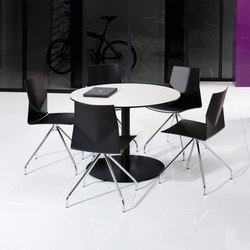 X12 Coloumn with circle foot base | Cafeteriatische | Holmris Office