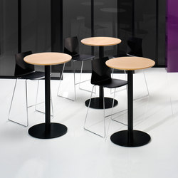 X12 Coloumn with circle foot base | Mesas altas | Holmris Office