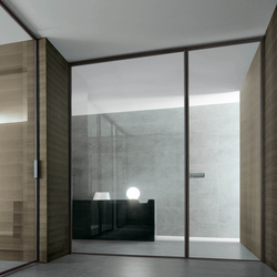 Spin slim | Glass room doors | Rimadesio